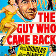 The Guy Who Came Back, Us Poster, Paul Art Print
