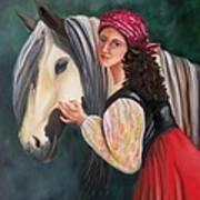 The Gypsy's Vanner Horse Art Print