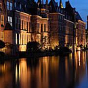 The Hague By Night Art Print