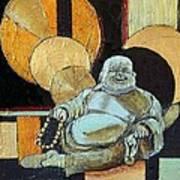 The Happy Buddha Art Print