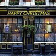 The Happy Christmas Pub Art Print