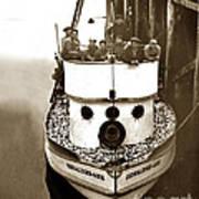 The Happy Crew Of The Fishing Boat  Geraldine- Ann Monterey California 1939 Art Print