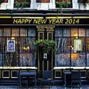 The Happy New Year 2014 Pub Art Print