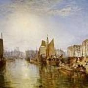 The Harbor Of Dieppe Art Print