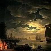 The Harbor Of Palermo Art Print by Claude Joseph Vernet