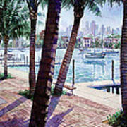 The Harbor Palms Art Print