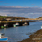 The Harbour At Hayle Cornwall Art Print