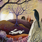 The Hare And Crow Art Print by Amanda Clark
