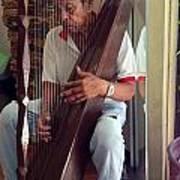 The Harp Man Art Print