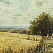 The Harvesters Print by Edmund George Warren