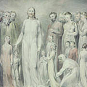 The Healing Of The Woman With An Issue Of Blood Art Print by William Blake