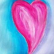 The Heart Is Art Print