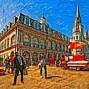 The Heart Of New Orleans Art Print by Steve Harrington