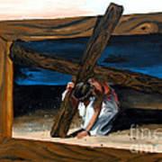 The Heaviest Cross To Bear Print by Linda Rae Cuthbertson