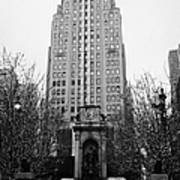 The Herald Square Building In The Rain Herald Square Broadway And 6th Avenue New York City Nyc Print by Joe Fox
