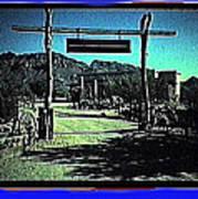 The High Chaparral Set  1984 Collage Old Tucson Arizona 1984-2012 Art Print
