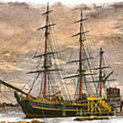 The Hms Bounty Art Print by Debra and Dave Vanderlaan