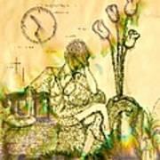 The Hold Up Sepia Tone Art Print