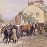 The Horse Fair  Art Print by John Atkinson