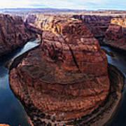 The Horseshoe River At Ultra High Resolution Art Print