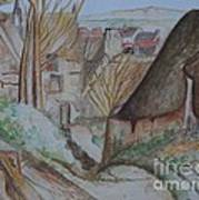 The House Of The Hanged Man After Cezanne Art Print