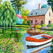 The House Pond Art Print