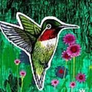 The Hummingbird Art Print by Genevieve Esson