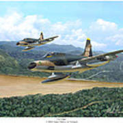 The Hun - F-100 Super Sabres In Vietnam Art Print