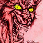 The Hyena Art Print by Michael Mestas