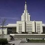 The Idaho Falls Mormon Temple Art Print
