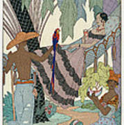 The Idle Beauty Art Print by Georges Barbier