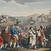The Idle Prentice Executed At Tyburn Art Print