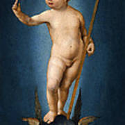 The Infant Christ On The Orb Of The World Art Print