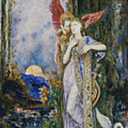 The Inspiration  Art Print by Gustave Moreau