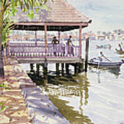 The Jetty Cochin Art Print by Lucy Willis