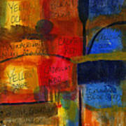 The Joy Of Planning An Abstract Painting At Starbucks Art Print