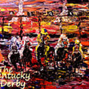 The Kentucky Derby - And They're Off Without Year  Art Print