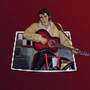 The King Elvis Art Print