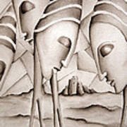 The King Is Dead  Art Print by Simona  Mereu