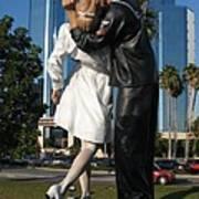 The Kiss - Sailor And Nurse - Sarasota  Art Print