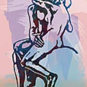 The Kissing - Rodin Stylized Pop Art Poster Art Print