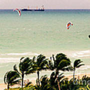 The Kite Surfers Art Print