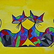 The Kitty Couple Art Print