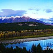 The Kootenenai River Surrounding The Canadian Rockies   Art Print