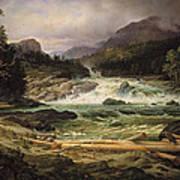 The Labro Falls At Kongsberg Art Print