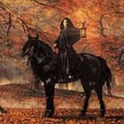 The Lady Of Halloween Art Print