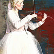 The Lady With The Violin Art Print