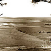 The Lagoon At The Mouth Of The Carmel River  From Fish Ranch California 1905 Art Print