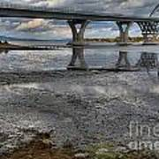 The Lake Champlain Bridge From Cown Point Art Print
