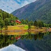 The Lake House Norway Art Print